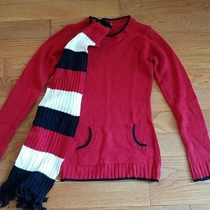 Sweater with detachable Scarf NWOT